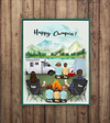 Personalized Family Poster - Best personalized gift for the whole family, camping lovers - Parents & 5 Kids camping poster