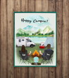 Personalized Family Poster - Best personalized gift for the whole family, camping lovers - Parents & 1 Kid camping poster - Happy Campers