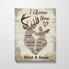 Personalized Canvas, Gift for couple -  Valentines day gift for him her boyfriend girlfriend - I choose you