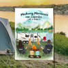 Family With 2 Kids And  2 Dogs - Camping - Personalized Garden Flag, Making memories one campsite at a time
