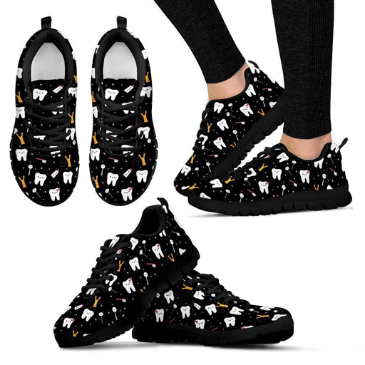 Women's Sneakers - Black - Dental Sneaker - Black / US5 (EU35) Dental Cute  Sneakers