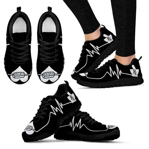 Women's Sneakers - Black - Rx Relax Shoes / US5 (EU35) Rx Relax Shoes