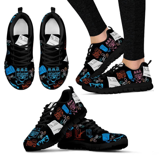 Women's Sneakers - Black - Rx Shoes / US5 (EU35) Rx Shoes