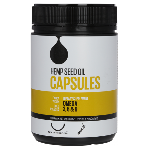Hemp Seed Oil Capsules 1000mg  240 caps