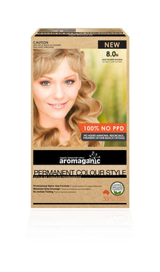Hair Colour Permanent Organic Light Blonde 8.0