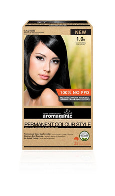 Hair Colour Permanent Organic Black 1.0