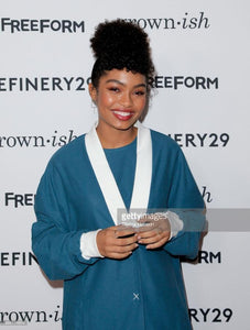 Yara Shahidi in Black and White Diamond Circle Ring