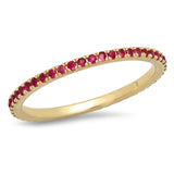 Eriness Jewelry Ruby and Tsavorite Eternity Band
