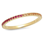 Eriness Jewelry Ruby and Orange Sapphire Eternity Band