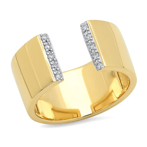Eriness Jewelry Open Diamond Cigar Band