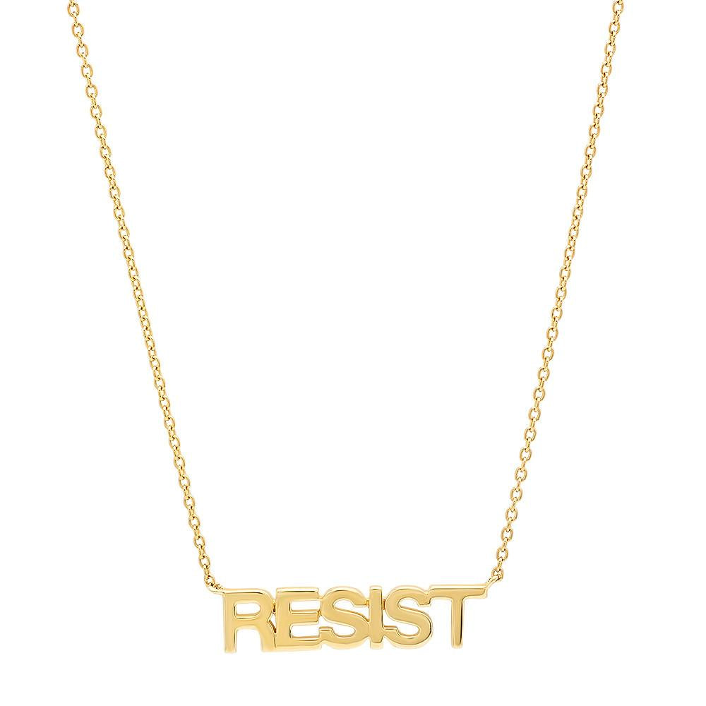 1df657a8a72b79 Eriness Jewelry RESIST Necklace