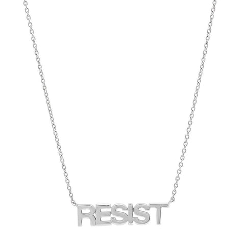 Eriness Jewelry Sterling Silver RESIST Necklace