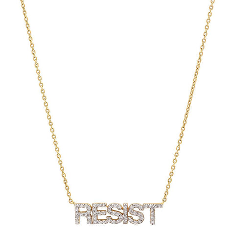 Eriness Jewelry Diamond RESIST Necklace