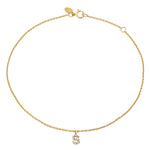 Diamond Mini Initial Anklet