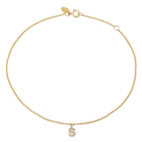 Diamond Mini Initial Bracelet