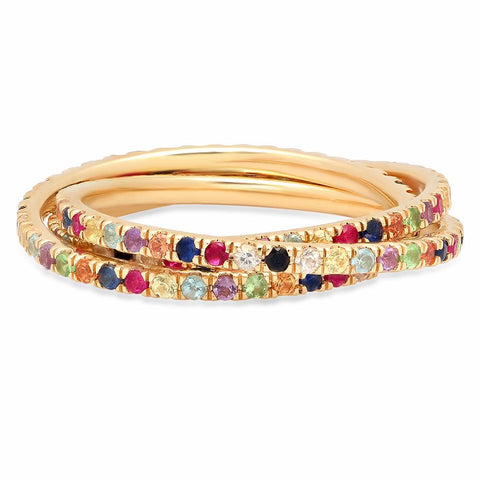 Multi Colored Interlocking Rings