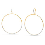 Eriness Jewelry Diamond Drop Hoops