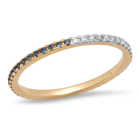 Eriness Jewelry Blue Sapphire and Diamond Eternity Band