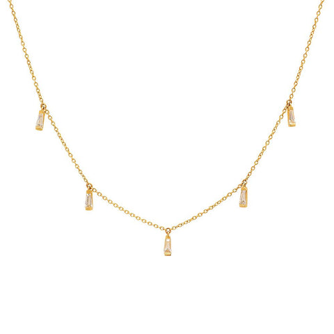 Eriness Jewelry Diamond Baguette Necklace