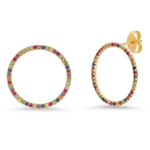 Eriness Jewelry Multi Colored Loops