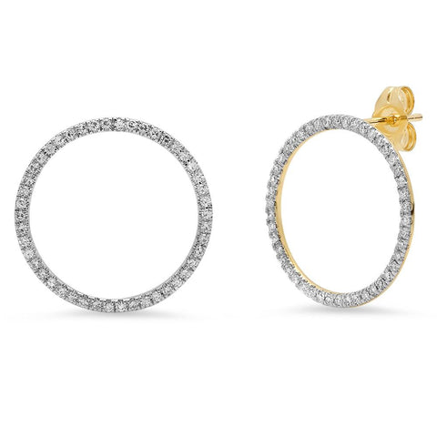 Eriness Jewelry Diamond Loop Earrings