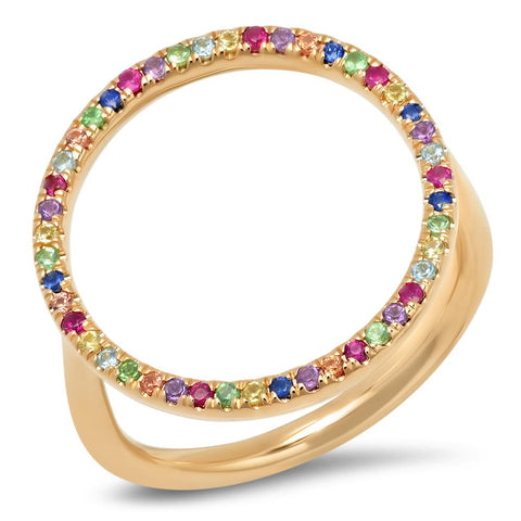 Eriness Jewelry Multicolored Circle Ring