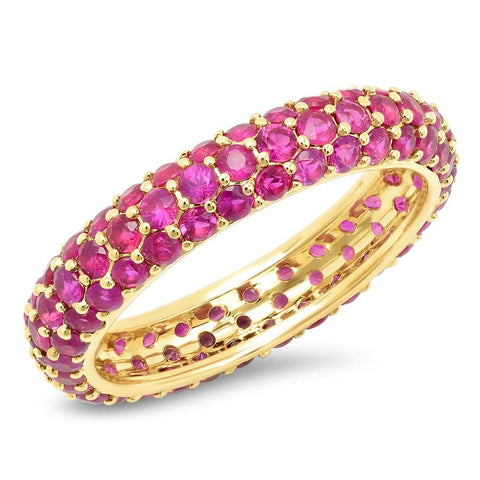 14K Yellow Gold Ruby Domed Ring