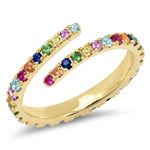 Eriness Jewelry Multi Colored Wrap Ring