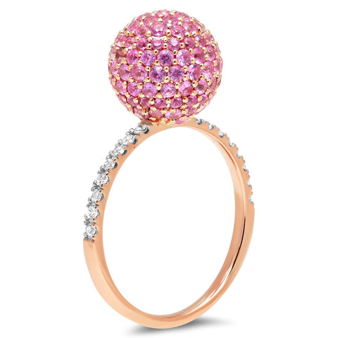 Eriness Jewelry Pink Sapphire Disco Ball Ring