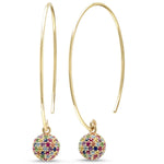 Eriness Jewelry Multi Colored Disco Ball Earrings