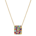 Eriness Jewelry Multi Colored Cluster Necklace