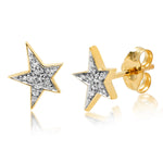 Eriness Jewelry Diamond Star Studs