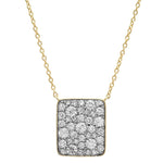 Eriness Jewelry Diamond Cluster Necklace