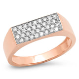 Eriness Jewelry Diamond Staple Signet Ring