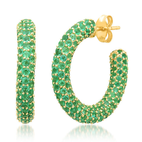 Eriness Jewelry Emerald Party Hoops