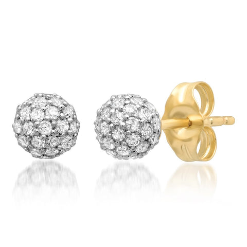 Eriness Jewelry Diamond Disco Ball Studs