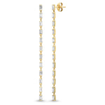 Eriness Jewelry Diamond Baguette Link Earrings