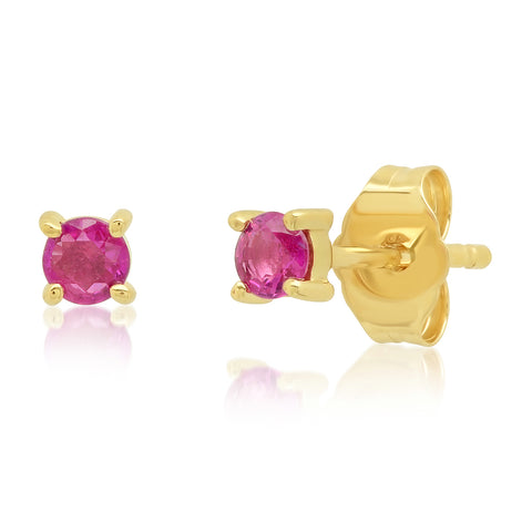 Eriness Jewelry Ruby Studs