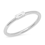 Eriness Jewelry Diamond Baguette Solitaire Ring