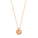 Rose Gold Multi Colored  Baby Ladybug Necklace