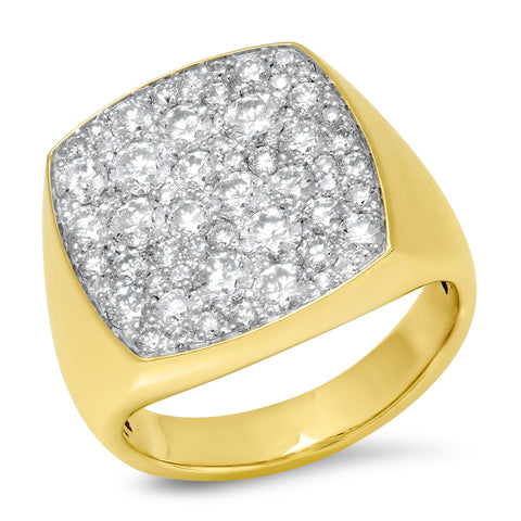 Eriness Jewelry Diamond Cushion Signet Ring