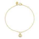 Yellow Gold Diamond Ladybug Charm Bracelet