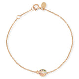 Rose Gold Multi Colored Crawling Ladybug Bracelet