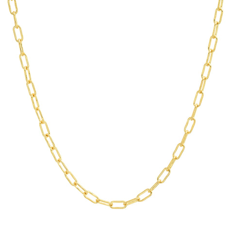 Yellow Gold Gold Link Chain Necklace