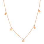 Rose Gold Mini Square Necklace