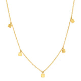 Yellow Gold Mini Square Necklace