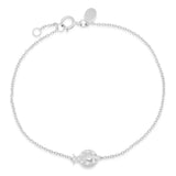 White Gold Diamond Crawling Ladybug Bracelet