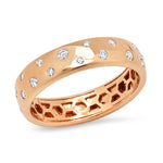 Rose Gold Diamond Polka Dot Ring