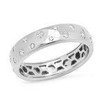 White Gold Diamond Polka Dot Ring