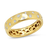 Yellow Gold Diamond Polka Dot Ring